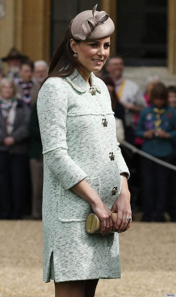 Gray Fascinator Kate Middleton