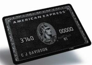 1-American Express Centurion Card