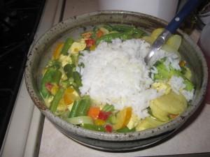 Coconut milk rice