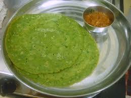 Spinach ( Paalakkeerai ) Dosa