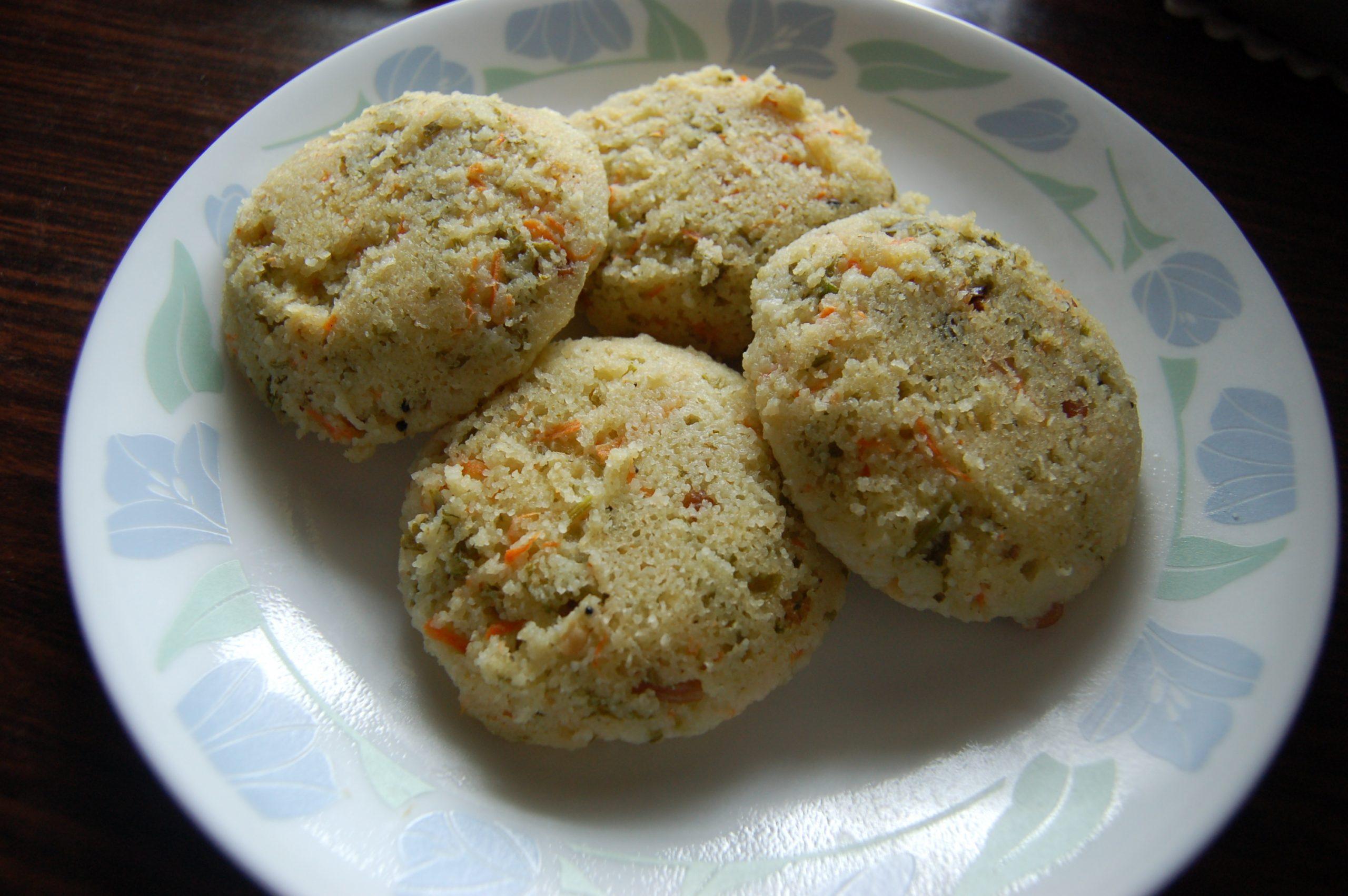 Wheat Semolina (Rava) Idli